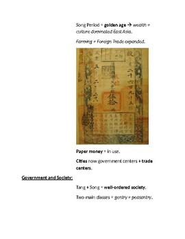 Cornell Notes (China: Mongols & Japan: Feudal Japan)