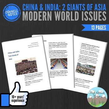 Cornell Notes (China and India Two Giants of Asia) Modern World Issues