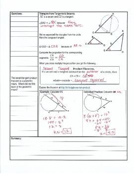 Cornell Notes - Circles Unit