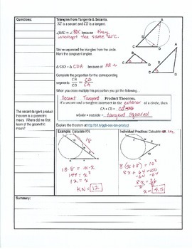 Cornell Notes - Circles Unit