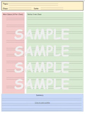 Cornell Notes Colored 2-lined Template
