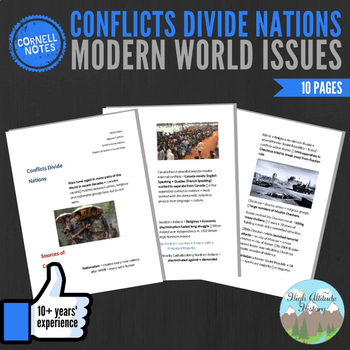Cornell Notes (Conflicts Divide Nations) Modern World Issues