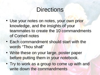 Cornell Notes Activity