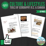 Cornell Notes (Culture & Lifestyles) Tools of Geography / United States & Canada