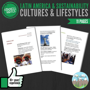 Cornell Notes (Cultures & Lifestyles) Latin America and Sustainability