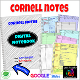 Cornell Notes Digital Notebook with GOOGLE Slides