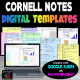 Cornell Notes Digital Templates with GOOGLE Slides