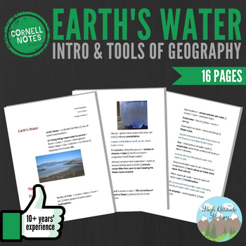Cornell Notes (Earth's Water) Introduction & Tools of Geography
