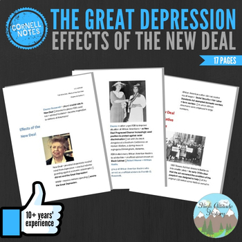 Cornell Notes (Effects Of The New Deal) Great Depression