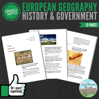 Cornell Notes: (History & Government) Europe