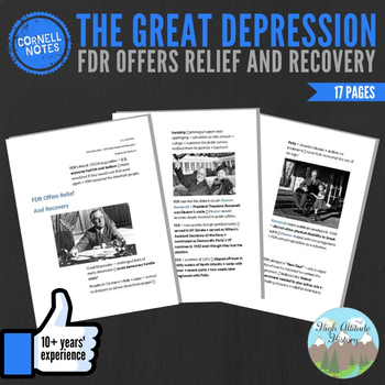 Cornell Notes (FDR Offers Relief And Recovery) Great Depression