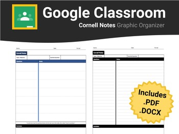 Cornell Notes For Google Classroom