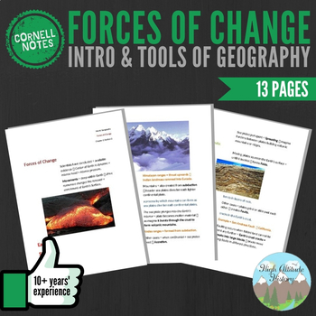 Cornell Notes (Forces of Change) Introduction & Tools of Geography