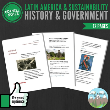 Cornell Notes (History & Government) Latin America and Sustainability