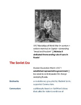 Cornell Notes (History & Government) Russia