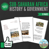 Cornell Notes (History & Government) Sub-Saharan Africa / South of the Sahara