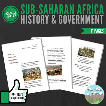Cornell Notes (History & Government) Sub-Saharan Africa /