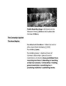 Cornell Notes (Hitler and the Rise of Nazi Germany) Between the Wars