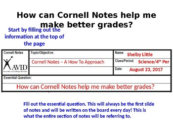 Cornell Notes How To