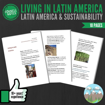 Cornell Notes (Living in Latin America) Latin America and Sustainability