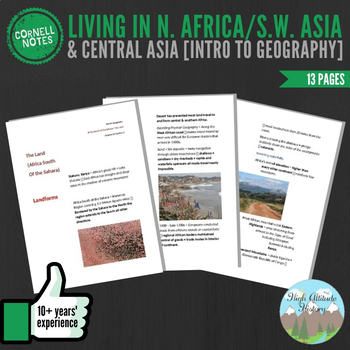 Cornell Notes (Living in North Africa, Southwest Asia and Central Asia)