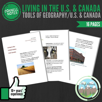 Cornell Notes (Living in U.S./CAN) Tools of Geography / Un