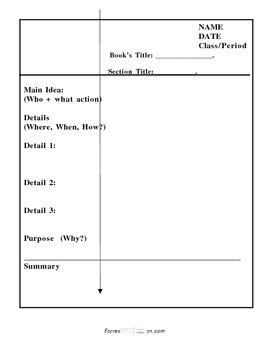 Cornell Notes- Main Idea and Details