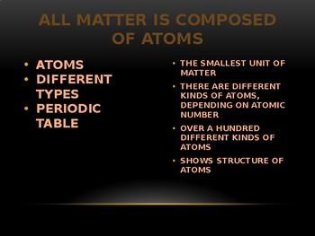 Cornell Notes:  Matter