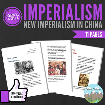 Cornell Notes (New Imperialism In China) Imperialism