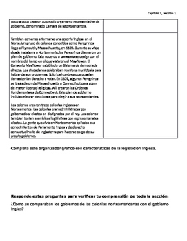 Cornell Notes: Our English Heritage Spanish/Espanol