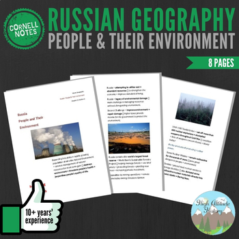 Cornell Notes (People & their Environment) Russia