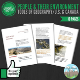 Cornell Notes (People & Their Environment) Tools of Geography / U.S. & Canada