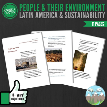 Cornell Notes (People & their Environment) Latin America and Sustainability