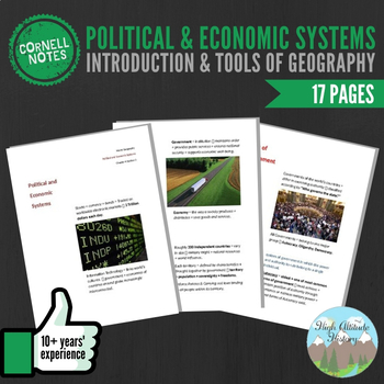 Cornell Notes (Political & Economic Systems) Introduction & Tools of Geography