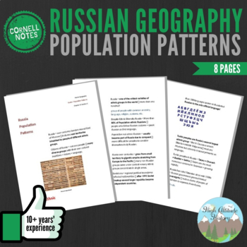 Cornell Notes (Population Patterns) Russia