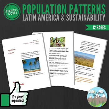 Cornell Notes (Population Patterns) Latin America and Sustainability