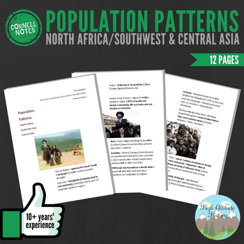 Cornell Notes: (Population Patterns) North Africa, Southwe