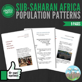 Cornell Notes (Population Patterns) Sub-Saharan Africa / Africa South of Sahara