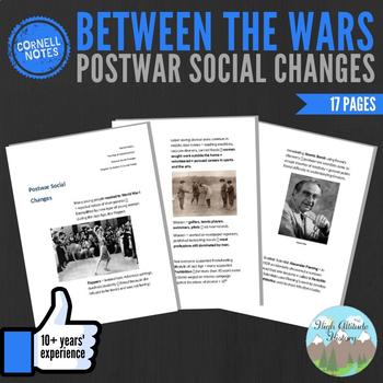 Cornell Notes (Postwar Social Changes) Between the Wars