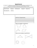 Cornell Notes Quadrilaterals