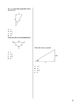 Cornell Notes Right Triangles and Trigonometry