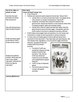 Cornell Notes: Rise of Industry