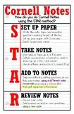Cornell Notes STAR Method Poster