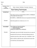 Cornell Notes Sample- Test Taking Techniques