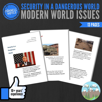 Cornell Notes (Security in a Dangerous World) Modern World Issues