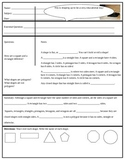 Cornell Notes Shapes