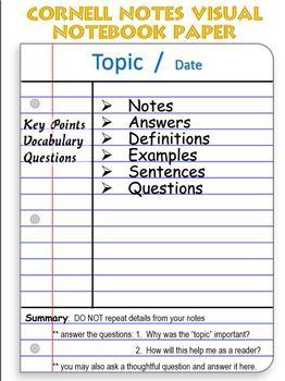 Cornell Notes Starter Kit