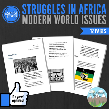 Cornell Notes (Struggles In Africa) Modern World Issues