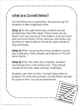Cornell Notes Template
