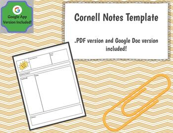 Cornell Notes Template Google Docs Version Included By